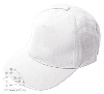 Бейсболка «Велюр», белая
