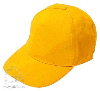 Бейсболка «Велюр», желтая