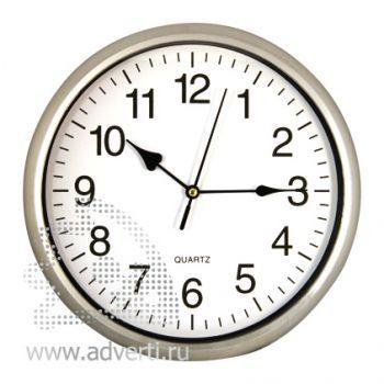 Часы настенные PR-035, серебристые