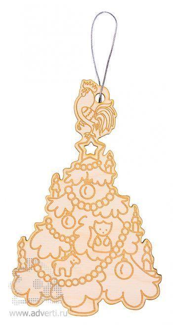 Новогоднее украшение «Петушок на елочке», дерево