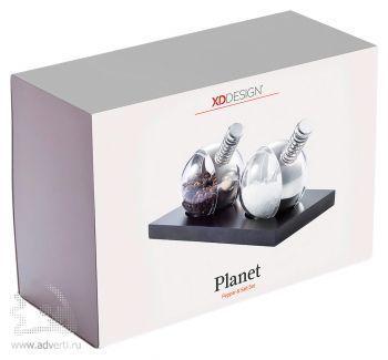 Набор «Planet» из 2 механических мельниц, упаковка