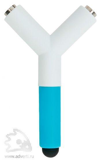 Сплиттер для наушников со стилусом, синий