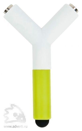 Сплиттер для наушников со стилусом, зеленый
