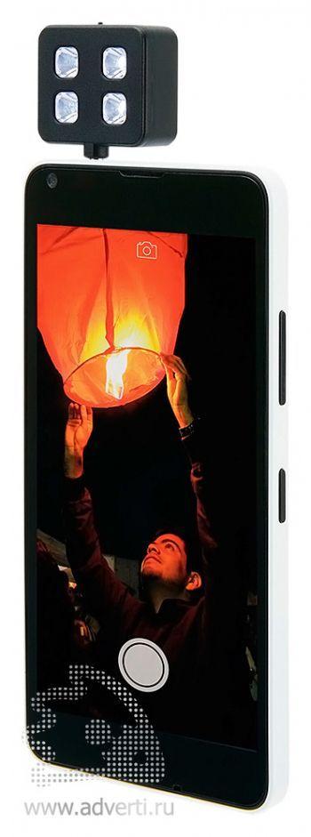 Вспышка для камеры мобильного телефона, применение