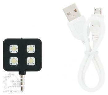 Вспышка для камеры мобильного телефона, USB провод прилагается