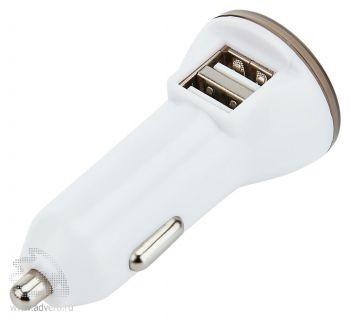 Мощное автомобильное зарядное устройство с 2 USB-портами, общий вид