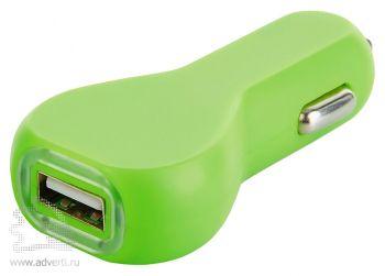 Зарядное устройство для автомобиля, зеленая