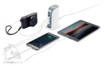 Мощная зарядная станция с 5 USB-портами, применение