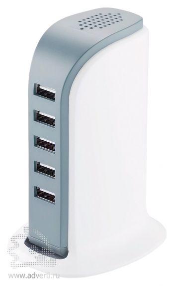 Мощная зарядная станция с 5 USB-портами