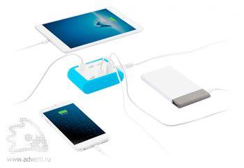 Зарядная станция с 6 USB-портами, применение