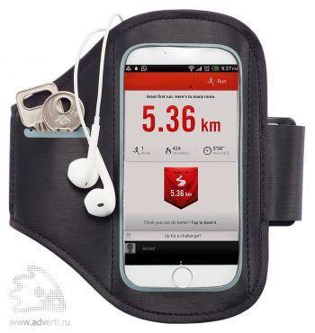 Спортивный чехол для телефона на руку, черный