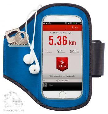 Спортивный чехол для телефона на руку, синий