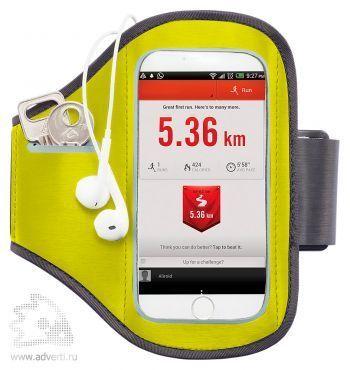 Спортивный чехол для телефона на руку, зеленый