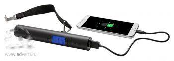 Электронные весы с зарядным устройством, 2200 mAh, возможность зарядки телефона