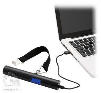 Электронные весы с зарядным устройством, 2200 mAh, возможность зарядки ноутбука