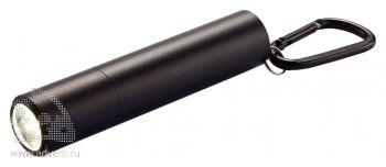 Зарядное устройство с фонариком, 2200 mAh, черное