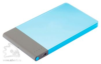 Тонкое зарядное устройство, 4600 mAh, синее