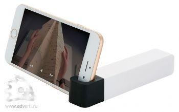 Зарядное устройство с подставкой для телефона, 2200 mAh, черное