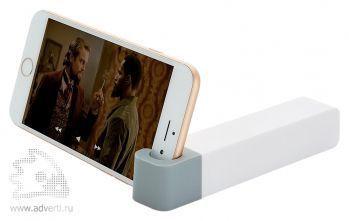 Зарядное устройство с подставкой для телефона, 2200 mAh, серое