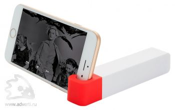 Зарядное устройство с подставкой для телефона, 2200 mAh, красное