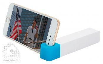 Зарядное устройство с подставкой для телефона, 2200 mAh, синее