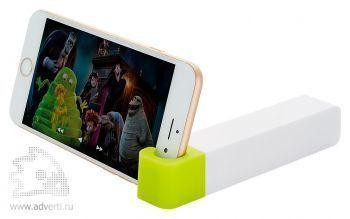 Зарядное устройство с подставкой для телефона, 2200 mAh, зеленое