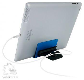 Алюминиевая подставка для телефона со стилусом, для проводов имеется удобный зажим