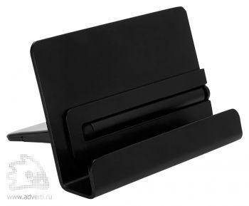 Алюминиевая подставка для телефона со стилусом, стилус крепиться к корпусу подставки