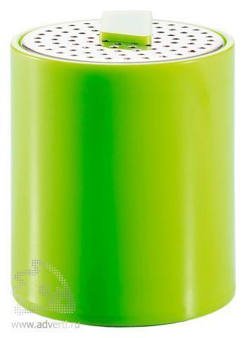 Портативная аудио-колонка для телефона, зеленая