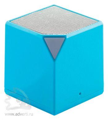 Беспроводная колонка «Cube», голубая