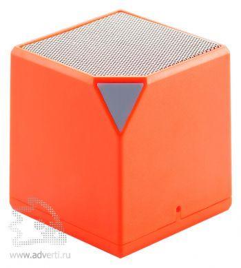 Беспроводная колонка «Cube», оранжевая