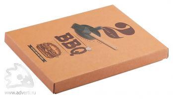 Набор «BBQ» для барбекю с прессом для гамбургеров и кисточкой, упаковка