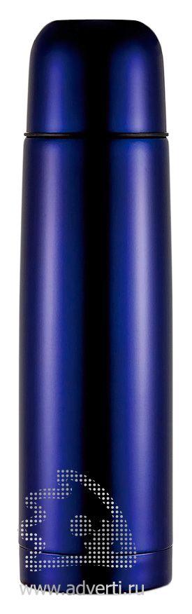 Термос из нержавеющей стали, темно-синий