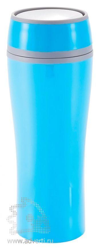 Термокружка «Push», синяя