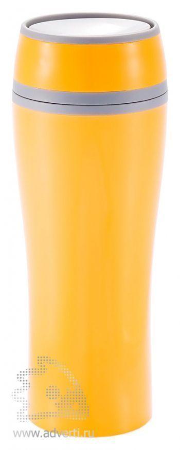 Термокружка «Push», оранжевая