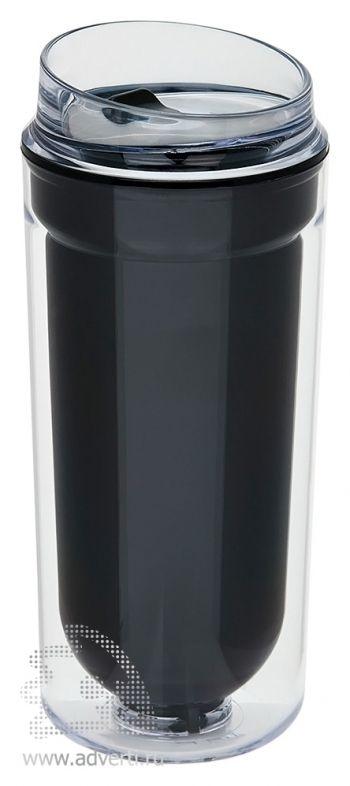Термокружка с двойными стенками, черная