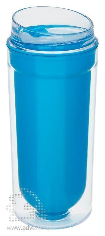 Термокружка с двойными стенками, синяя