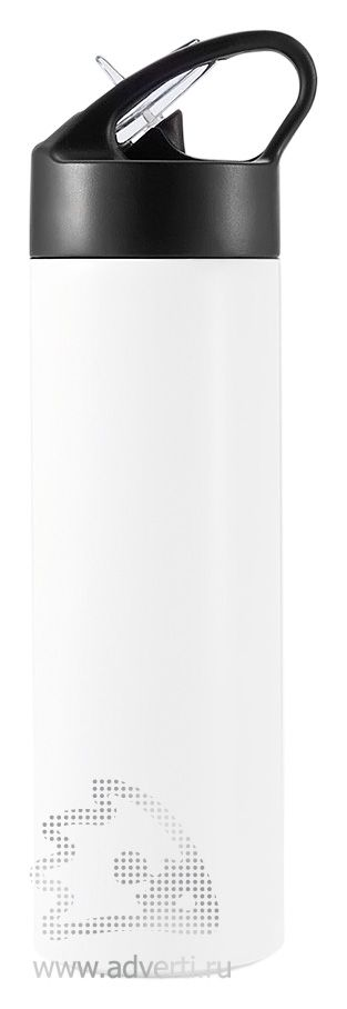Спортивная бутылка для воды с трубочкой, белая