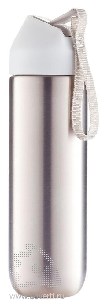 Металлическая бутылка для воды «Neva», белая крышка