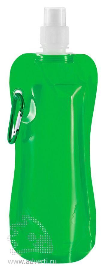Складная бутылка для воды, зеленая