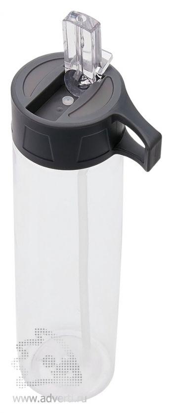 Бутылка для воды «Tritan» с трубочкой, открытая крышка