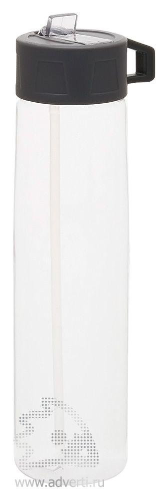 Бутылка для воды «Tritan» с трубочкой, прозрачная