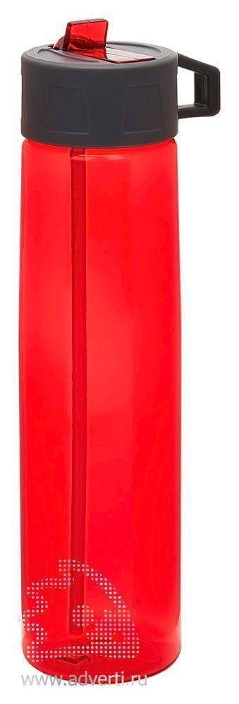Бутылка для воды «Tritan» с трубочкой, красная