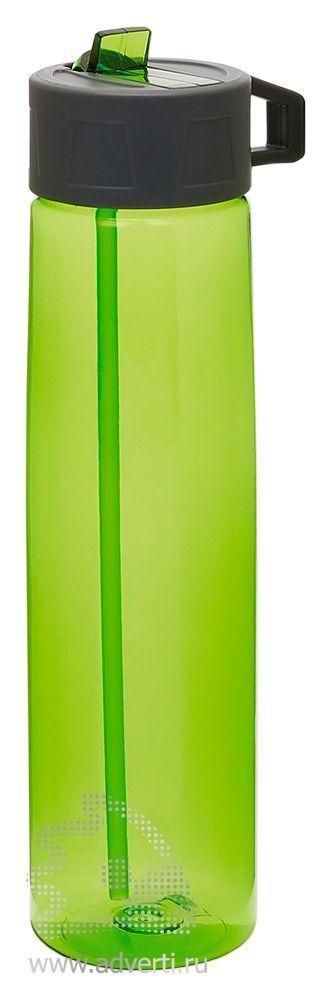 Бутылка для воды «Tritan» с трубочкой, зеленая