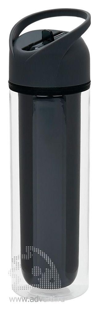 Бутылка для воды «Tritan» с двойными стенками, черная