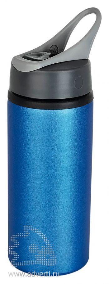 Алюминиевая спортивная бутылка, синяя