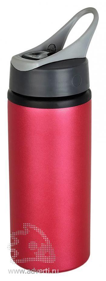 Алюминиевая спортивная бутылка, розовая