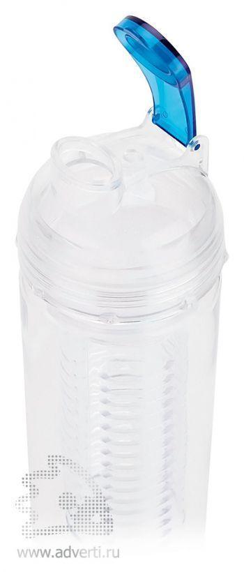 Бутылка для воды с контейнером для фруктов, открытая
