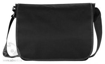Наплечная сумка для документов, черная