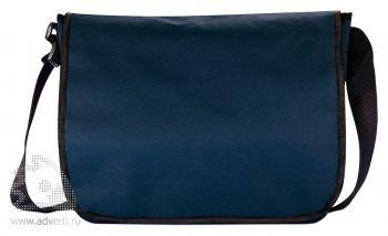 Наплечная сумка для документов, темно-синяя